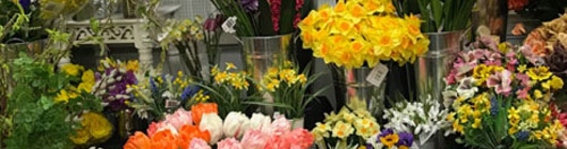 Come visit our Artificial Flowers showroom