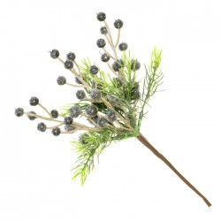 Artificial Blueberries and Spruce Pick 22cm - X21076 GS1D