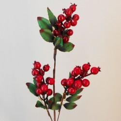 Artificial Christmas Berries Stem Red 63cm - X21086 BAY3