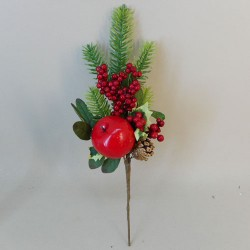 Artificial Spruce Berries and Apple Pick - 18X275