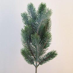 Artificial Christmas Pine with Silver Glitter - 16X040