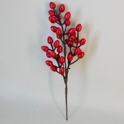 Artificial Cranberries Pick Red 31cm - X19300