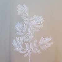 White Artificial Leaves and Foliage
