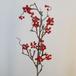 Artificial Twig and Berries Branch - X19013