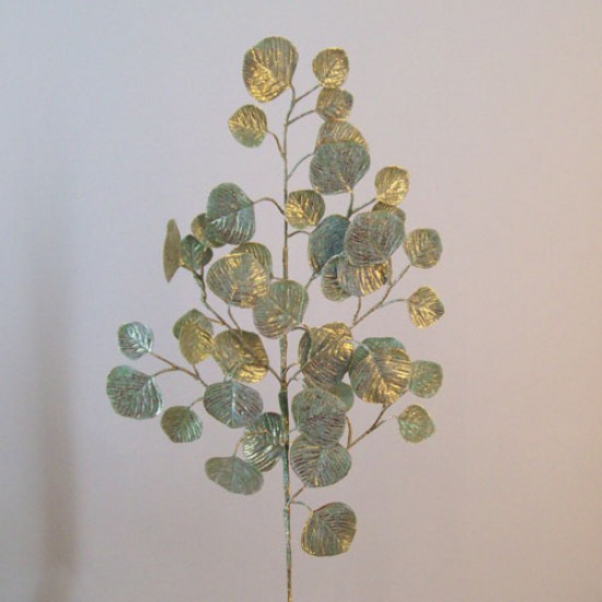 Artificial Salal Leaves Green Gold - 18X025