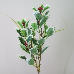 Artificial Variegated Holly Branch - 14X157