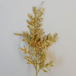 Gold Glitter Berberis Spray 40cm - X19070