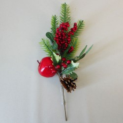 Artificial Spruce Berries and Apple Pick - 18X069