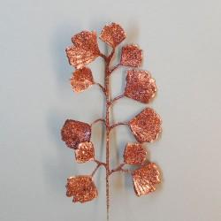 Christmas Gingko Leaf Rose Gold - 18X061