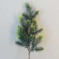 Artificial Christmas Pine with Silver Glitter - 16X040A