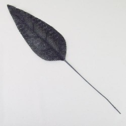 Glitter Banana Leaves Black - 13X064