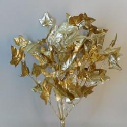 Glitter Christmas Ivy Bush Gold 42cm - X20048