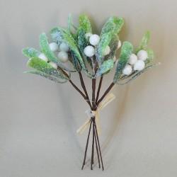 Glitter Mistletoe Bunch - 18X272