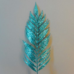 Glitter Palm Leaf Teal - X19073