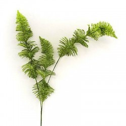 Glitzy Curly Fern Leaves Lime - X092