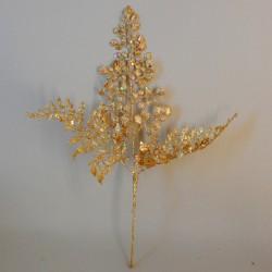 Gold Glitter Maidenhair Fern Spray 35cm - X20016