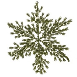 Artificial Christmas Pine Snowflake Large 92cm  - 18X029
