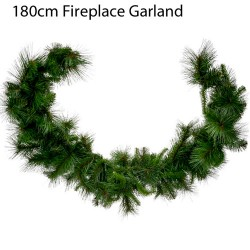 180cm Plain Pine and Spruce Fireplace Christmas Garland - 16X080