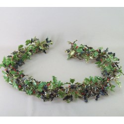 Artificial Holly Garland Gold Glitter - 15X004
