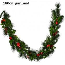Artificial Yule Christmas Garlands 180cm - 17X178