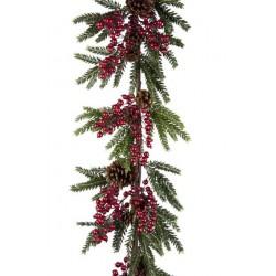 Sabina Pine & Berry Luxury Christmas Garland - OX001c FR3