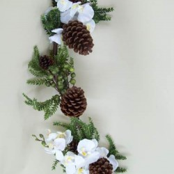 Opulence Orchid and Berry Christmas Garland - OX061c