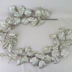 Deluxe Holly Christmas Garland Champagne Gold - 13X051