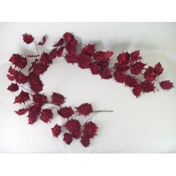 Deluxe Holly Christmas Garland Dark Red - 13X050