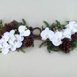 Opulence Orchid and Berry Christmas Swag - OX061b