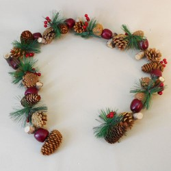 Christmas Garland Apples Cones Berries and Spruce - 18X262