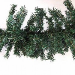 9' Plain Pine Christmas Garland Green (Wide) - X106