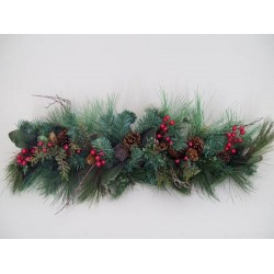 Decorated Christmas Spruce Swag - X129
