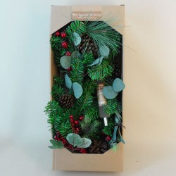 Fragranced Christmas Garland Pine Cones and Berries 180cm - 17X151