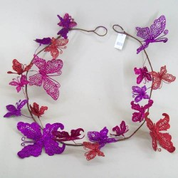 Garland of Butterflies Hot Pink and Red - OX002a