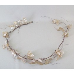 Gold Sparkle and Lace Butterflies Garland - 15X046
