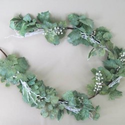 Luxury Christmas Garland Frosted Grape Vine - 13X042
