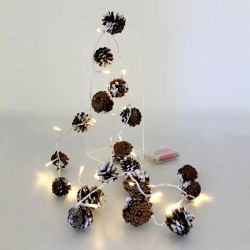 Pine Cone Garland with LED Lights 1.8m - 14X131