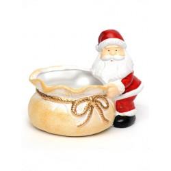 Christmas Sweetie Bowl Santa with Sack - 14X009