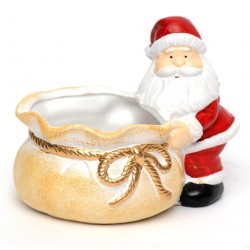 Christmas Sweetie Bowl Santa with Sack - 14X009