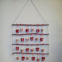 Nordic Style Metal Buckets Christmas Advent Calender - 15X067
