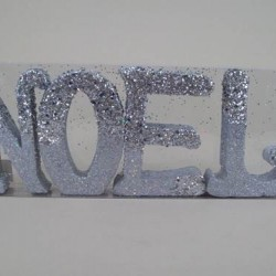 Christmas Decorations | Noel Letters Silver - X052a
