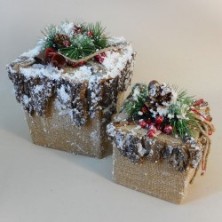 Rustic Box Christmas Decoration Large - 17X026