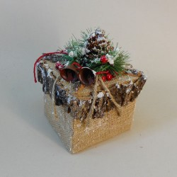 Rustic Box Christmas Decoration Small - 17X027