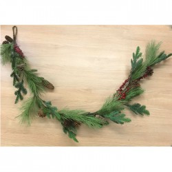 Artificial Christmas Garlands Spruce Pine Cones and Berries 150cm - X20044