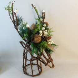 Rustic Alpine Stags Head Table Decoration - 17X196