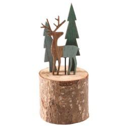 Wooden Christmas Decorations Woodland Reindeer - 17X208