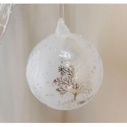 100mm Glass Cadence Christmas Baubles - 17X041
