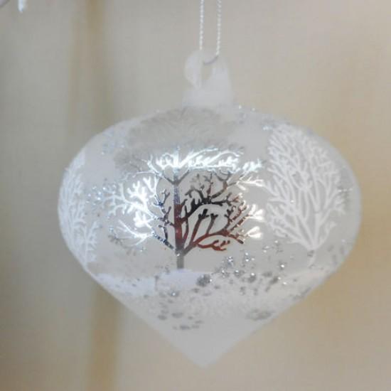 100mm Glass Cadence Onion Christmas Baubles - 17X042