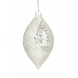 150mm Glass Cadence Finial Christmas Baubles - 17X043