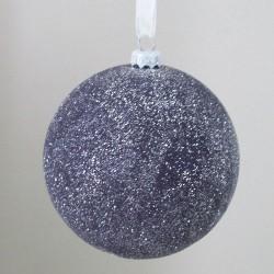 75mm Shatterproof Christmas Baubles Purple Frosty - 15X044